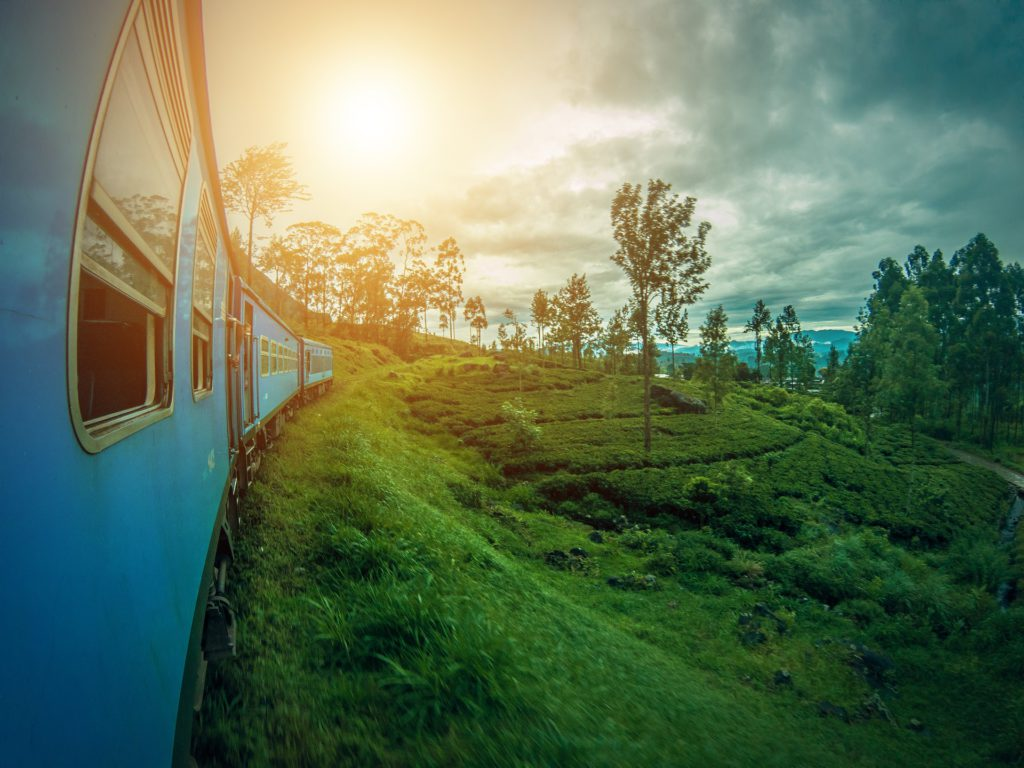 Train Journey through Sri Lanka