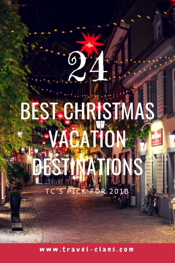 24 of the best Christmas vacation destinations Pin