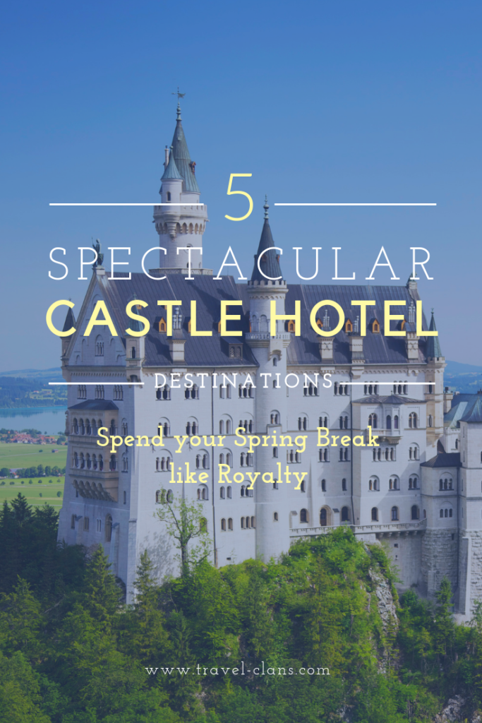 5 Spectacular Castle Hotel Destinations in Ireland, Scotland and England #travelclans #castles #SpringBreak #Ireland #Scotland #England