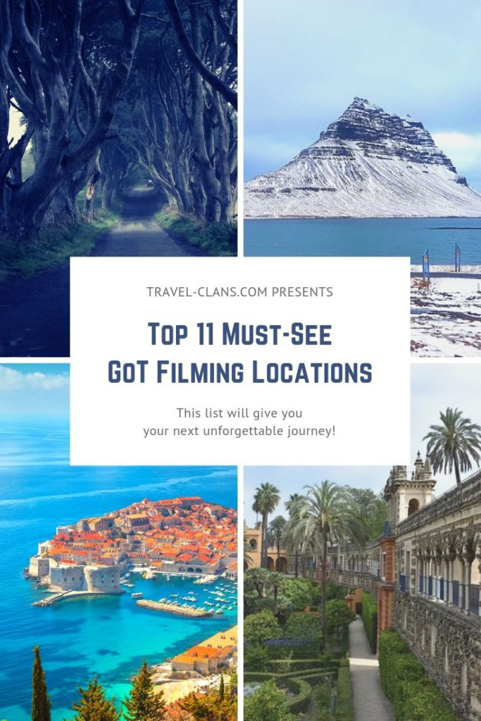 Re-live GoT's Finest Scenes - Top 11 must-see Game of Thrones Filming Locations #travelclans #gameofthrones #got #winterfell
