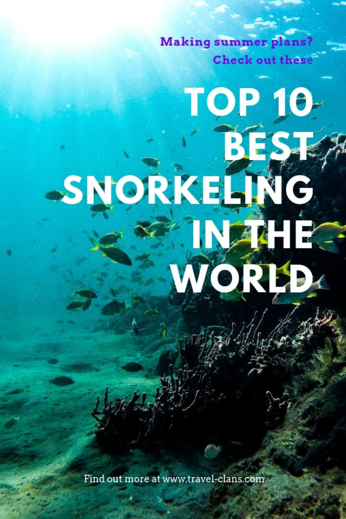 Travel Clans' guide to the Best Snorkeling in the World. #travelclans #snorkel #snorkeling #seekmoments  #postcardsfromtheworld #photographyislifee #getoutstayout #optoutside #beachbum #tropicalisland #lovetheocean #foreversummer