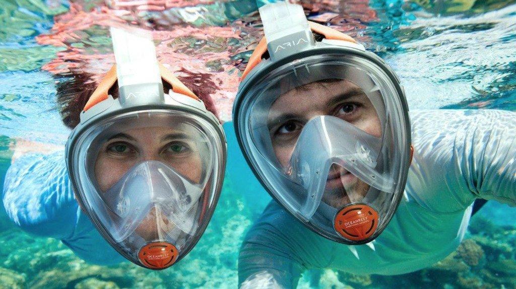 Best Snorkeling Gear: Full-face Snorkel Mask #travelclans #snorkeling #snorkel