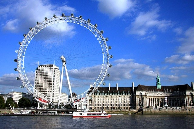 Top 10 things to do in London with kids - The London Eye on the River Thames #travelclans #Top10thingstodo #london