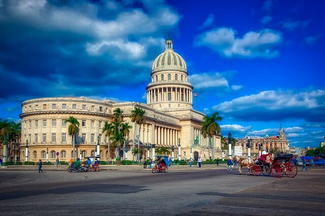 Budget Travel Destination - Cuba for Families. The capital building in Havana. #travelclans, #cuba #havana #BudgetTravel #BudgetTravelDestination