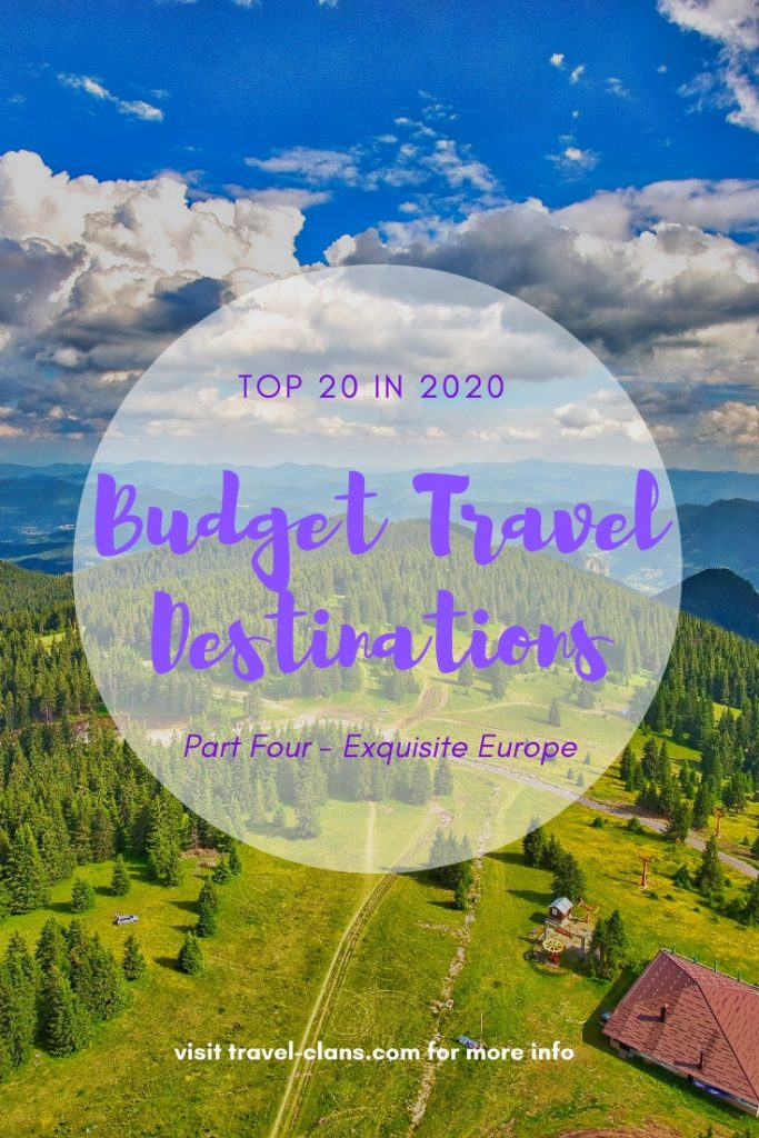 Holiday in any of these 6 European countries if you are looking for a Budget Friendly Destinations in 2020. #travelclans #BudgetTravel #Travel #Destinations #Armenia #Georgia #Romania #Bulgaria #Malta #Portugal