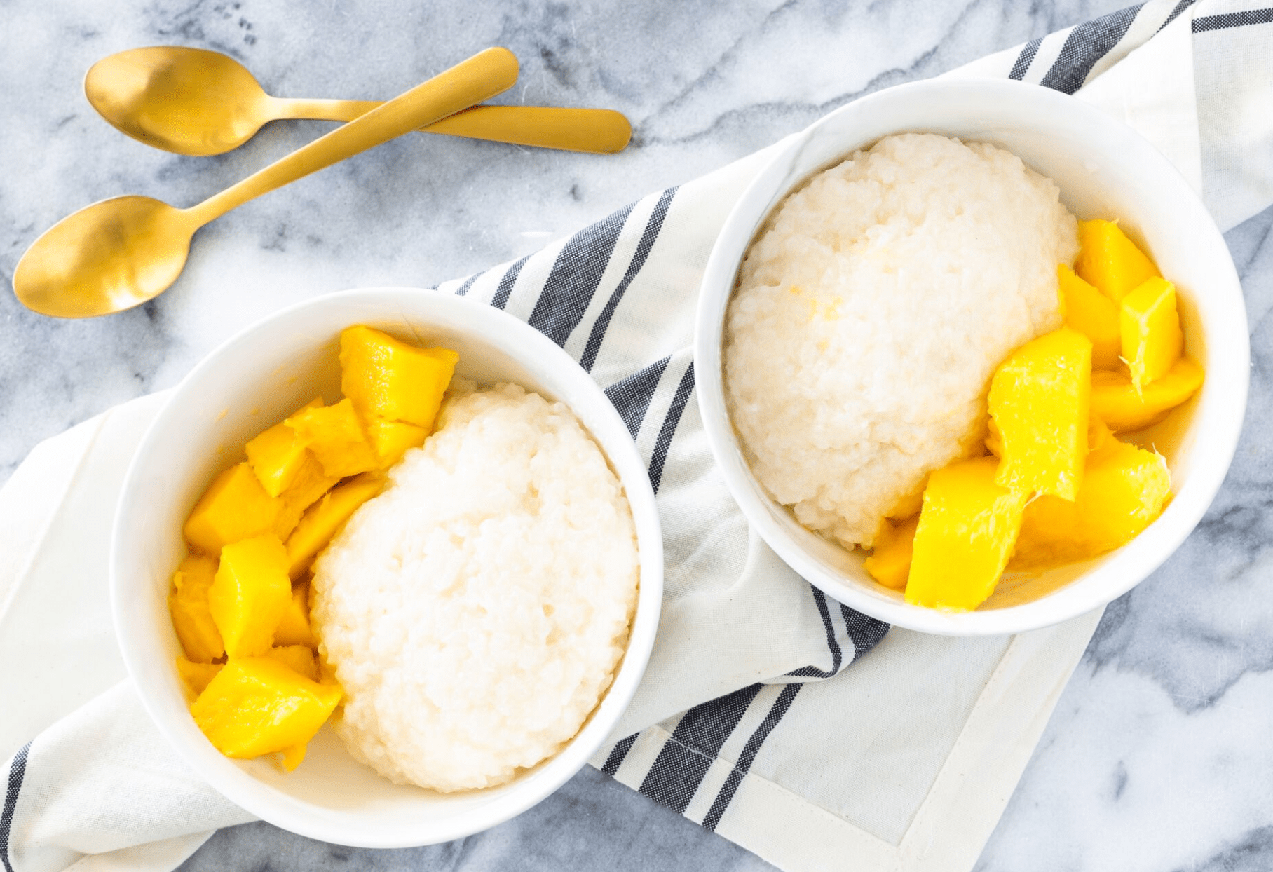 Sweet Sticky Rice with Fresh Mango