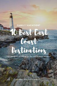 Enjoy each destination individually or tie them together for an epic road trip #travelclans #eastcoast #familyvacation #roadtrip #summer #vacation