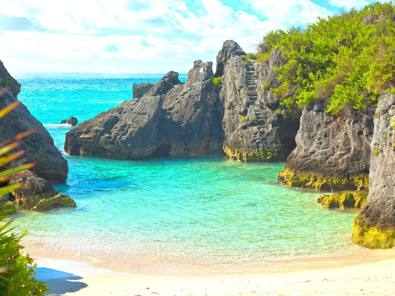 A secluded cove in Bermuda #travelclans #beaches #caribbean