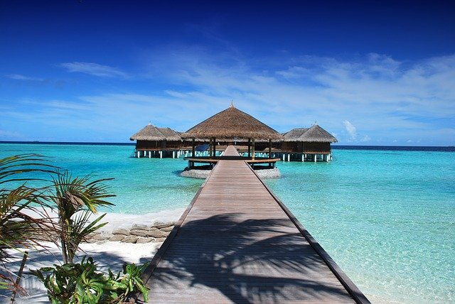 Luxury vacation in the Maldives